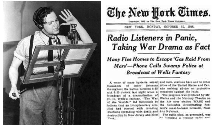 NY Times Orson Welles Panic In NJ